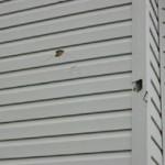 Hail damage to vinyl siding