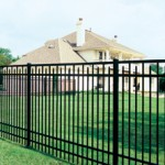 Decorative metal fence by Advanced Roofing and Exteriors