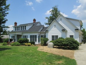 house with roof shingles repaired
