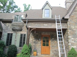 House roofing repaired for damage