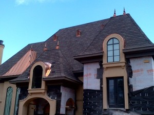 A house repaired from hail damage