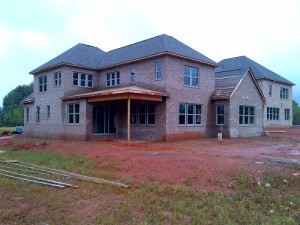 A Charlotte house repaired from hailstorm damage