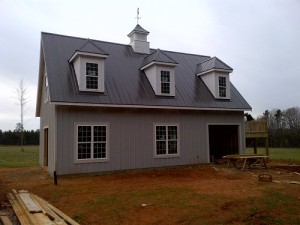 A house with metal roofing in Charlotte, NC