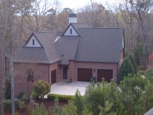 A home in Charlotte repaired from hail damage