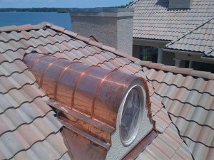 A house repaired by metal roofing companies
