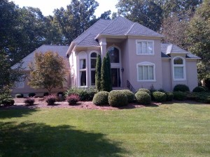 Roof repair works by roofing contractors