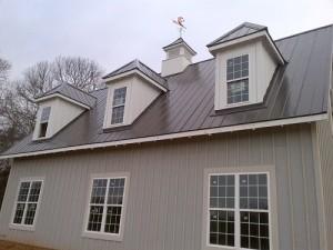 Metal roofing works
